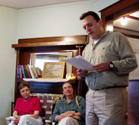 Reading at Woodstock Mayapple Writers' Retreat