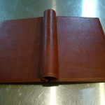 Tobacco leather springback binder - Outside - Click for larger picture